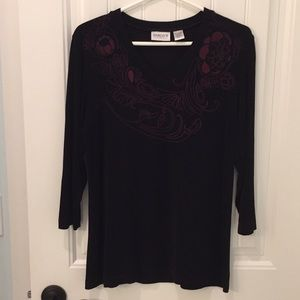 Tops - Chico's Travelers 3/4 Sleeve V-neck Top